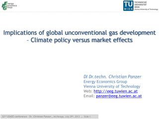 Implications of global unconventional gas development – Climate policy versus market effects