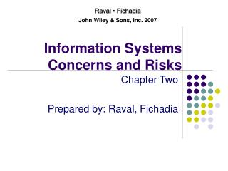 Information Systems Concerns and Risks