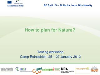 How to plan for Nature?