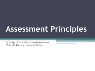 Assessment Principles