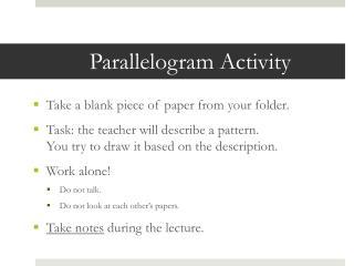 Parallelogram Activity