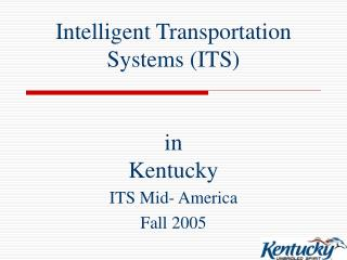 Intelligent Transportation Systems (ITS) in Kentucky