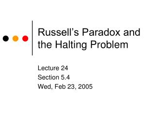 Russell's Paradox and the Halting Problem