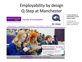 Employability by design Q-Step at Manchester