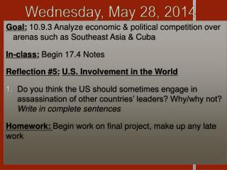 Wednesday, May 28, 2014