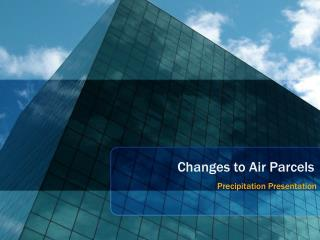 Changes to Air Parcels