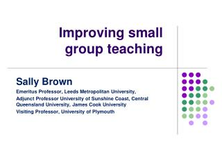 Improving small group teaching