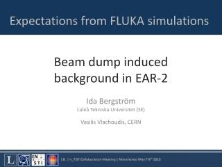 Beam dump  induced  background in EAR-2