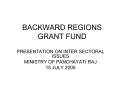 BACKWARD REGIONS GRANT FUND