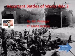 Important Battles of World War 2