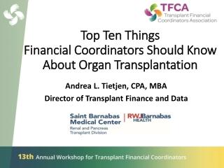 Update in Organ Donation