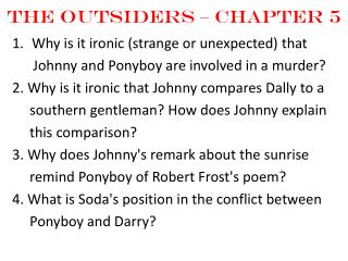 The Outsiders – Chapter  5