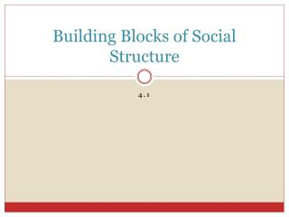 Building Blocks of Social Structure