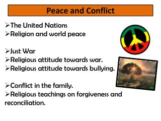 Peace and Conflict