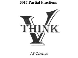 5017  Partial Fractions