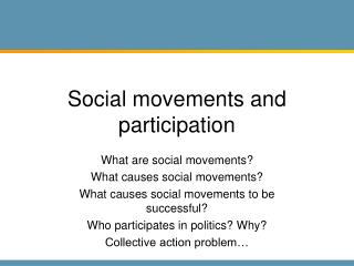 Social movements and participation