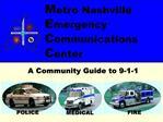 Metro Nashville  Emergency  Communications  Center