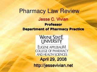 Pharmacy Law Review