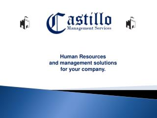 Human Resources      and management solutions for your  company.