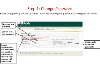 Step 1: Change Password