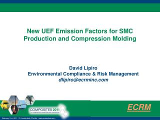 New UEF Emission Factors for SMC Production and Compression Molding