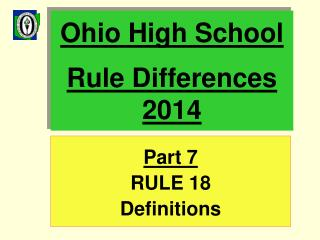 Ohio High School Rule Differences 2014
