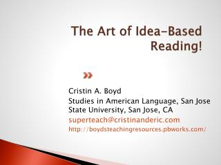The Art of Idea-Based Reading!
