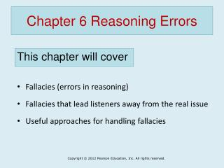 Chapter 6 Reasoning Errors
