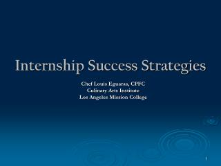 Internship Success Strategies