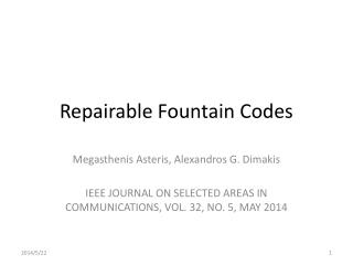 Repairable Fountain Codes