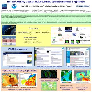 The Jason Altimetry Missions - NOAA/EUMETSAT Operational Products & Applications