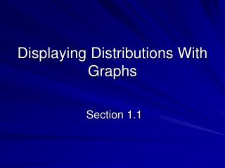 Displaying Distributions With Graphs