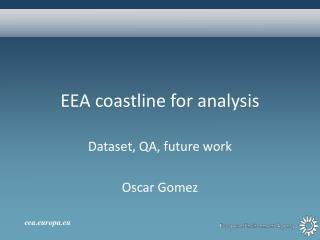 EEA  coastline for analysis