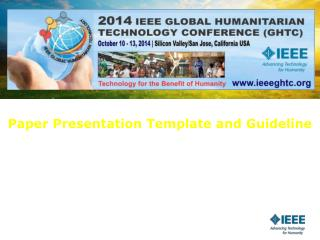 Paper Presentation Template and Guideline