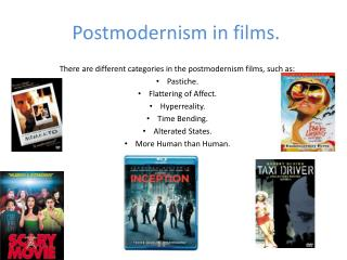 Postmodernism in films.