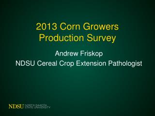 2013 Corn Growers Production Survey