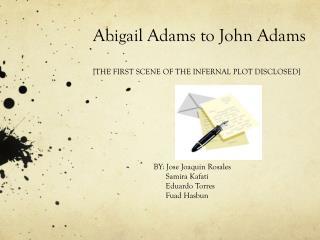 Abigail Adams to John Adams