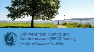 Spill Prevention, Control, and Countermeasure (SPCC) Training