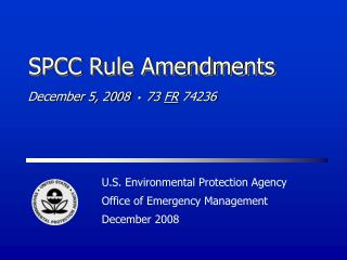 SPCC Rule Amendments