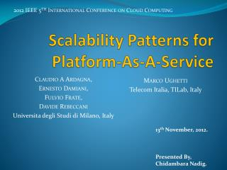 Scalability Patterns for Platform-As-A-Service