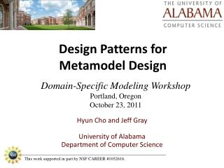 Design Patterns for  Metamodel Design