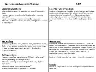 Operations and Algebraic Thinking 5.OA