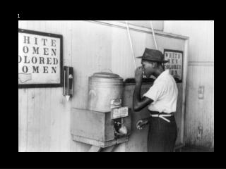 """Colored"" Water Cooler, 1939"