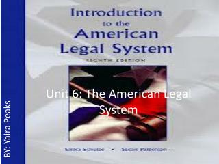 Unit 6: The American Legal System