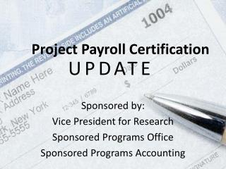 Project Payroll  Certification