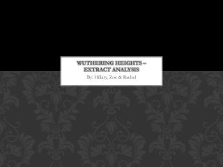 Wuthering Heights – Extract analysis
