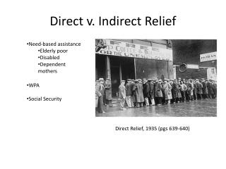 Direct v. Indirect Relief