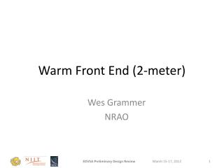 Warm Front End (2-meter)