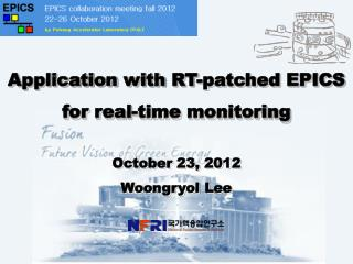 Application  with  RT-patched EPICS for real-time monitoring