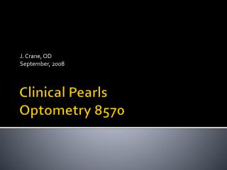 Clinical Pearls Optometry 8570